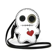 White Stitched Voodoo Doll Cross Body Bag Purse Goth Punk Kawaii Alternative Emo