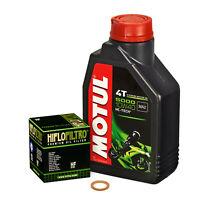 Suzuki GN 125, 94-99, NF41A; Motul 10w40 Öl; HiFlo Ölfilter Ölwechselset Motoröl
