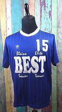 Vintage ADIDAS Mens Sz XL Soccer Football Jersey Shirt Blue Blaine MN 80's 90's