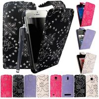 Diamond Bling Leather Flip Case Cover Pouch For Samsung Galaxy S3 Ace 2 S3 mini