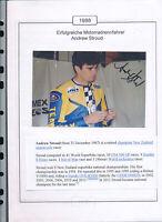 565322 / Motorrad Beleg Autogramm Andrew Stroud