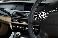 FOR 03+ VAUXHALL SIGNUM PERFORATED LEATHER STEERING WHEEL COVER GREY DOUBLE STCH