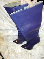 Versace Collection Statement  leather Boots, size 7 40.5