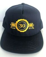 Vintage 30 Trucker Hat Baseball Cap Made in USA Snapback Embroided Logo Blue 80s