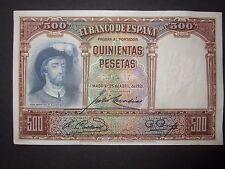 1931 SPAIN - 500 Pesetas Banknote