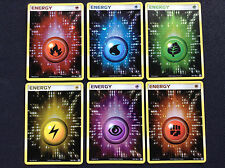 X6 Pokemon EMERALD HOLO ENERGY CARDS GRASS FIRE WATER LIGHTNING PSYCHIC FIGHTING