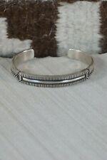 Navajo Sterling Silver Bracelet - Calvin Martinez
