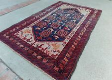 ANTIQUE Afshari Handmade Worn Rug 3 X 5