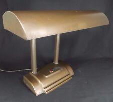 INDUSTRIAL DESK LAMP double goose neck antique art deco VINTAGE OFFICE