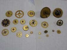 Lot 23 Vintage Brass Clock Gears Wheels Steampunk Project Altered Art #10