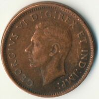 COIN / CANADA / 1 CENT 1944 / GEORGE VI.     #WT7672