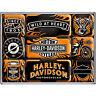 HARLEY DAVIDSON GARAGE MAGNET SET - BRAND NEW - ORIGINAL - RRP £14 - FREE POST