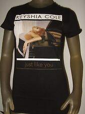 New Juniors Med Keyshia Cole Piano Just Like You R&B Pop Music Singer Tee Shirt