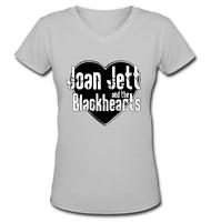 Joan Jett & The Blackhearts V-Neck Short Sleeve T-shirts For Women
