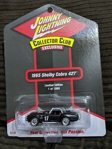 Johnny Lightning Collector Club 1965 Shelby Cobra 427  Limited Edition 1 of 1008