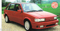 MG MAESTRO TURBO SPEC SHEET / Brochure:1988,1989,1990,