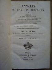 ANNALES MARITIMES ET COLONIALES,Ord.ROYALES.BAJOT.ANNEE 1817.1ère partie.TOME V)