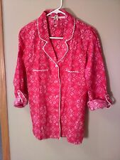 VICTORIA'S SECRET Bright Pink  Flannel Pajamas  NWT S