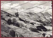 VERCELLI SCOPELLO 59 MERA VALSESIA NEVE SEGGIOVIA Cartolina FOTOGRAF. viagg 1962