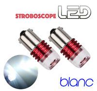 2 Ampoules BA15s P21w LED Blanc positions jour Roulage diurne STROBE Stroboscope