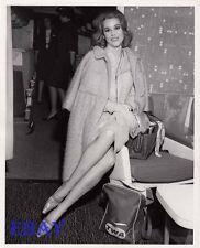 Jane Fonda leggy candid VINTAGE Photo 1963 N.Y. International Airport