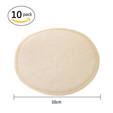 10pcs Reusable Breast Pads Nursing Waterproof Organic Plain Washable Feeding Pad