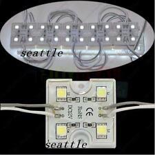 20pcs 4LED 5050 SMD Cool White Led Module Waterproof Light Lamp DC 12V Decor New