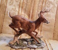 1986 Homco Home Interiors White Tailed Deer Buck Masterpiece Porcelain Figurine
