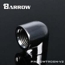 """Barrow G1/4"""" Silver 90 Degree Dual Female Fitting Adapter - 016"""