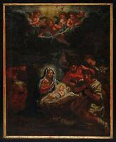 Geburt Christi / Anbetung der Hirten 18. Jahrhundert. - Öl/Leinwand   (# 14159)