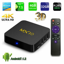 2018 4K MX10 DDR4 4/32GB TV BOX ANDROID 7.1.2 WIFI KODI Quad Core Media Player