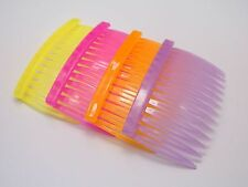 20 Mixed Color Plastic Hair Clips Side Combs Pin Barrettes for Ladies 70mm