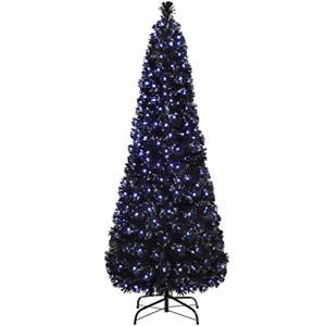 WeRChristmas Pre-Lit Slim Christmas Tree with 248 Fibre Optic Lights, 6 feet/1.8