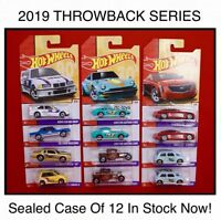 2019 Hot Wheels Throwback Series Sealed Case Of 12, Honda, Mustang, Datsun 240z