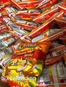 6 x Cheetos Crunchy Flamin Hot 1.25oz/35.4g Bags American Cheese Snack 07/21