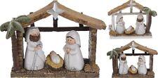 Resin Traditional Nativity Stable Scene Set Christmas Decoration - Design Varies