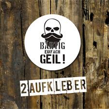 Aufkleber BÄRTIGE EINFACH GEIL, Bartträger Aufkleber, BAERTIGE EINFACH GEIL