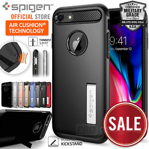 Genuine SPIGEN SLIM ARMOR Cover for Apple iPhone 8 Plus/8/ 7 Plus/7/6s Plus Case