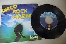 "DISCO ROCK MACHINE""LIVING FOR THE CITY-disco 45 giri LOTUS It 1978"" SEXY COVER"