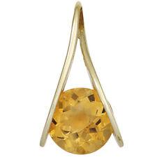 Damen Anhänger 375 Gold Gelbgold 1 Citrin orange Goldanhänger