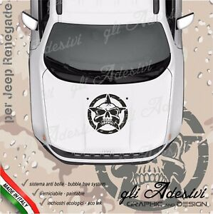 Adhesive Skull For Jeep Renegade And Wrangler Bonnet Stella Shabby Chic