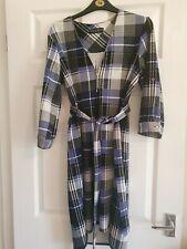 Dorothy Perkins Blue & Black Check Knee Length Dress with Belt Size 14