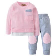 2PCS Infant Baby Kids Boys Girls Autumn T shirt Tops+Pants Outfits Clothes Set