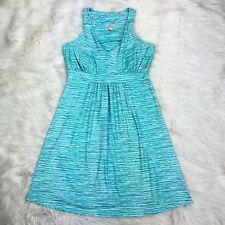 Teháma Women's Size Small Green Blue Jersey Stretch Athletic Dress Built In Bra