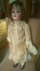 "Beautiful 25"" Kestner & Co 214 Bisque Head Antique Doll circa 1910"