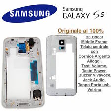Middle Frame Cornice Telaio Centrale Samsung Galaxy S5 G900f Argento Originale