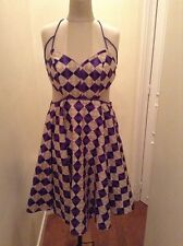 MULTI COLOR HALTER TOP SUNDRESS SIZE 10 TO 12