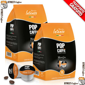 100 CAPSULE CAFFE POP Caffè 1 INTENSO BLISTER COMPATIBILI UNOSYSTEM UNO SYSTEM *
