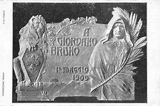 C6040) FIRENZE 1909, TARGA IN MEMORIA DI GIORDANO BRUNO ALLA SCUOLA CALLIANO.
