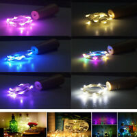 1PC Flashing Cork LED Night Starry Light Wine Bottle Home Party String DecorLamp